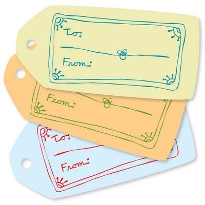 Printable labels for gifts