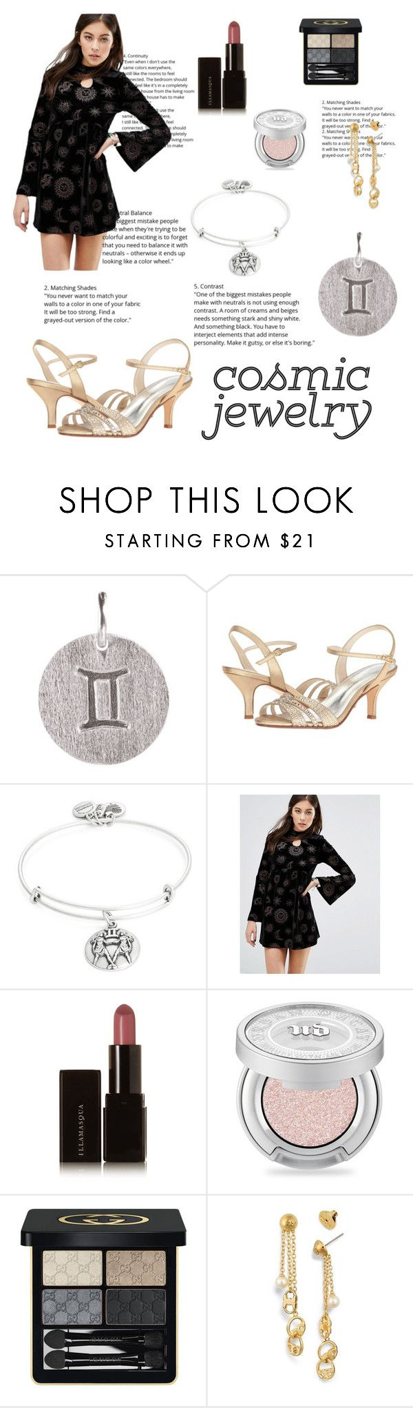 """""""Gemini Jewelry"""" by lizdp ❤ liked on Polyvore featuring Pernille Corydon, Caparros, Alex and Ani, Motel, Illamasqua, Urban Decay, Gucci and Tory Burch"""