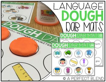 These mats are perfect for groups with mixed language goals! Each target skill has two level, one with visual support and one without visuals. HOW TO PLAY:Instruct students to roll 11 small balls of Play-Doh. After completing the task, students can smash the Play-Doh in the circle.