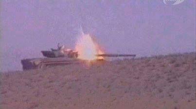 Nagorno Karabakh War - Armenian T-72 gets hit.