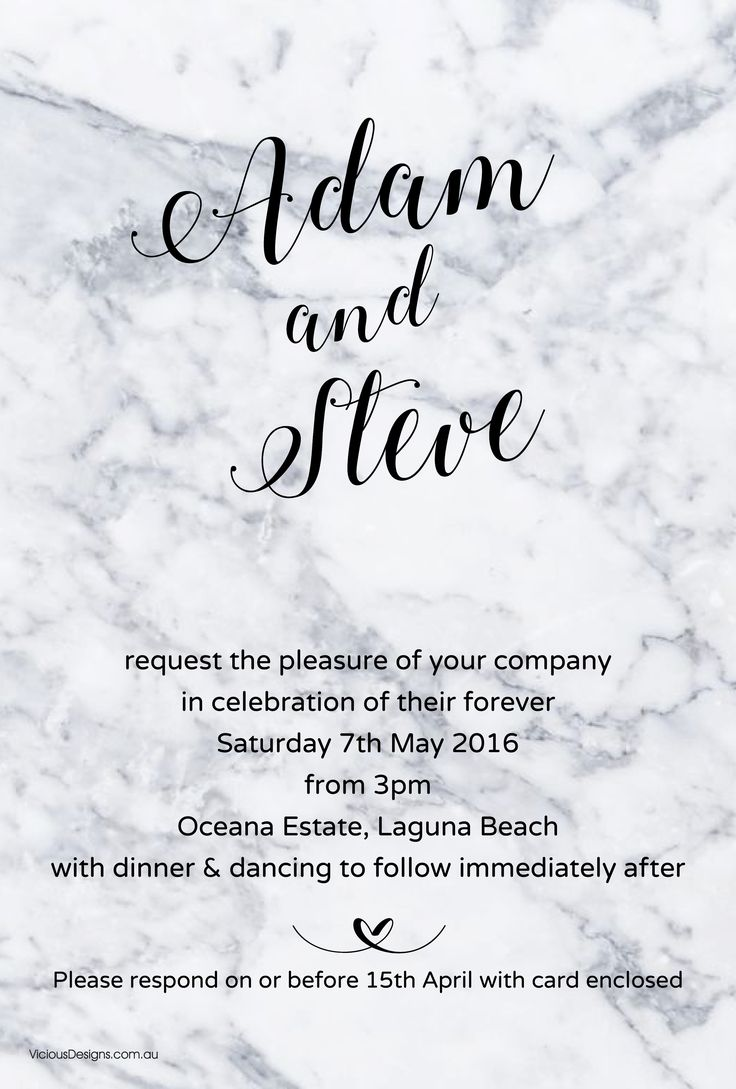 Grey Marble Invitation from our Contemporary collection