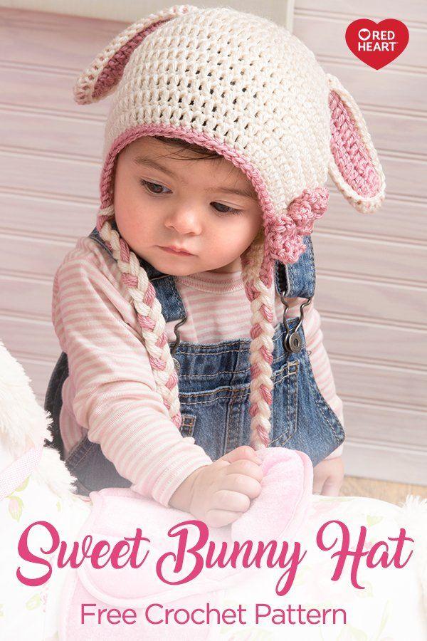 Sweet Bunny Hat Free Crochet Pattern In Soft Yarn Your Huggable Little C Crochet Baby Bunny Hat Pattern Crochet Baby Hat Patterns Baby Hat Crochet Pattern Boy