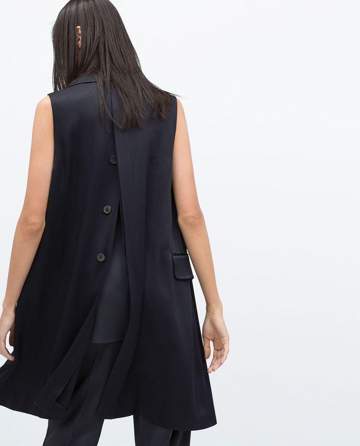 STUDIO WAISTCOAT WITH BACK OPENING-Jackets-WOMAN | ZARA United States