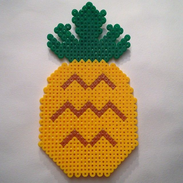 Pineapple hama beads by maliaml