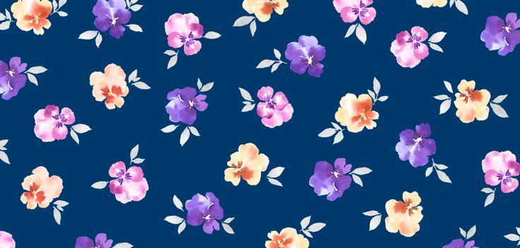 パンジー,watercolor,illustration,flower,花柄,イラストレーション