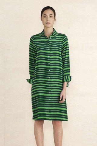 Marimekko Bettina Silk Shirt Dress