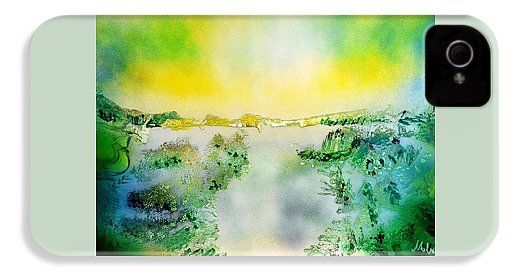 Lake Of Transparency IPhone 4 / 4s Case Printed with Fine Art spray painting image Lake Of Transparency by Nandor Molnar (When you visit the Shop, change the orientation, background color and image size as you wish)