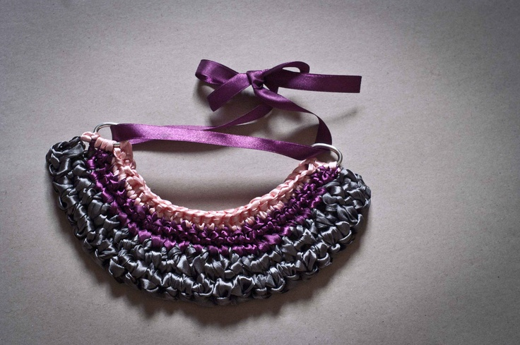 satin chroched necklace
