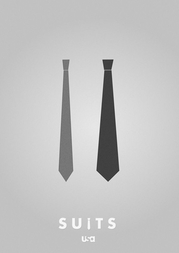 Suits - Minimalistic posters - logo by Bjørn Myrer, via Behance