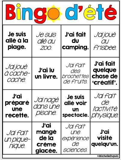 GRATUIT - BINGO D'ÉTÉ