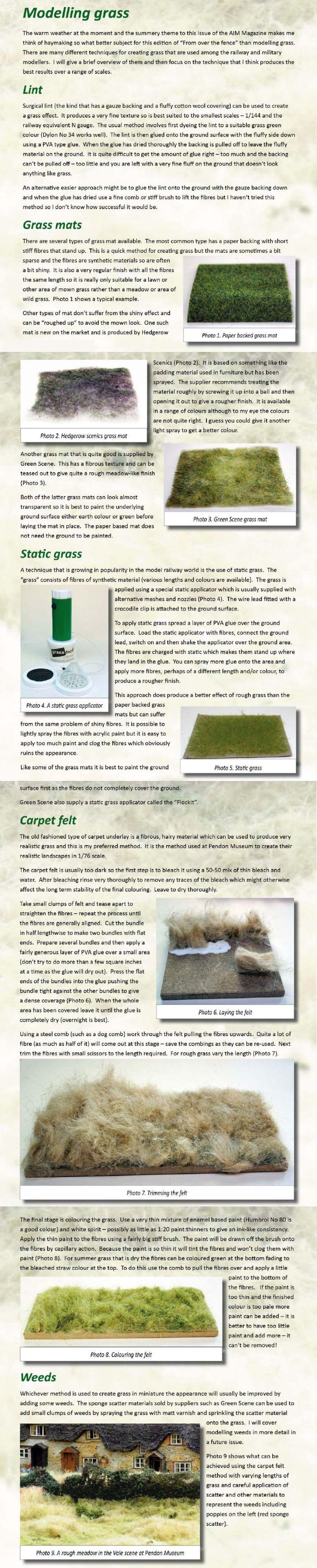 Como imitar hierba