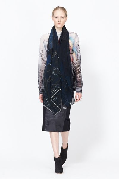 Pierre Louis Mascia Knit Scarf (Dark Blue Multi)