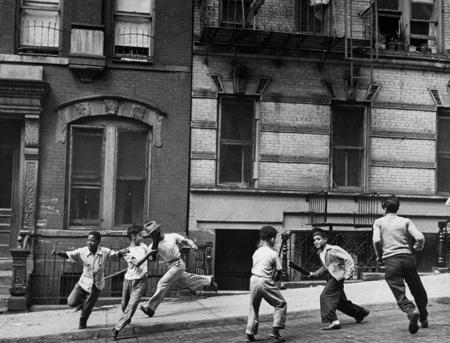 Stickball Game in Spanish Harlem, 1947 | Love Letter to New York: Classic LIFE Photos of the Big Apple | LIFE.com
