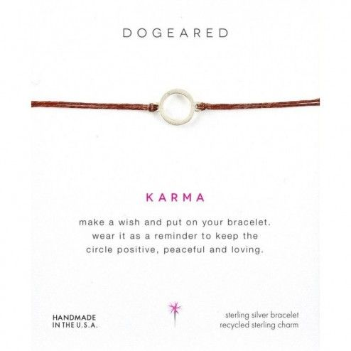 Dogeared Karma Tobacco Linen Bracelet at aquaruby.com