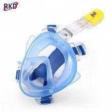 RKD Diving Detachable Dry Snorkeling Full Face Mask Set