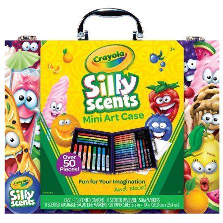 Crayola Silly Scents Mini Inspiration Art Case Coloring Set Child 50 Pieces Walmart Com Art Case Art Kit Crayola