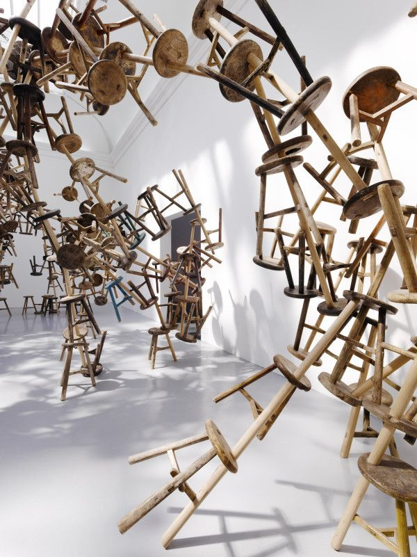 Bang by Ai Weiwei at the Venice Biennale, 2013. Made from 886 antique stools. Photo: Alessandro Panuello.