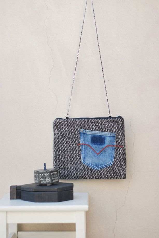 Easy Chic Shoulder Bag Zero Two by Pocket Chic  eco fashion - Reuse - Handmade