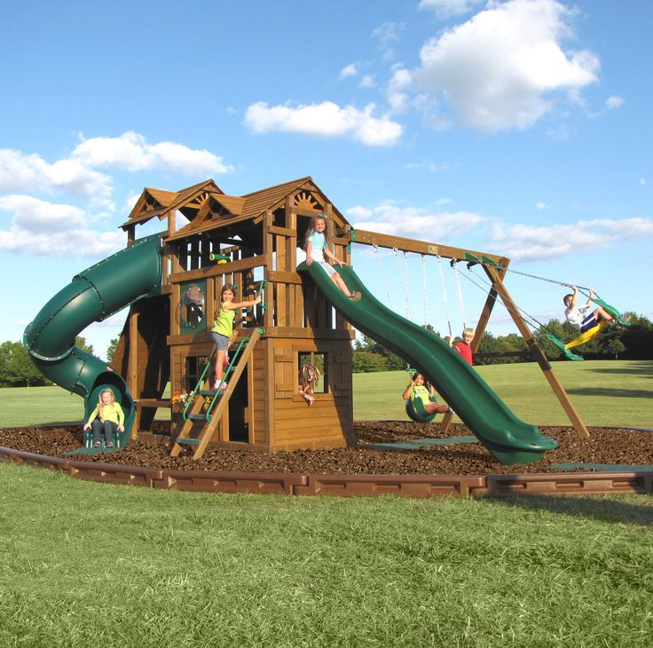 Creative playthings play sets by backyardplace 10 for Creative swing set ideas