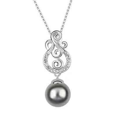 Synthetic Pearl Design Crystal Necklace
