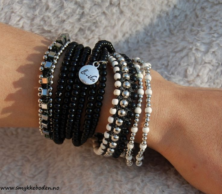 Armcandy Black silver 02 cream from Loika. NOK 499.- www.smykkeboden.no