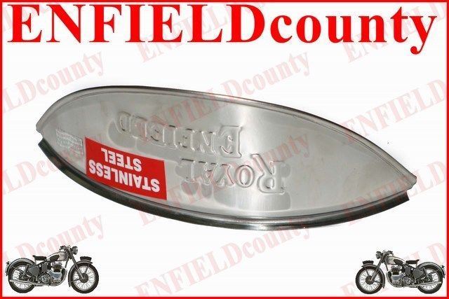 NEW ROYAL ENFIELD EMBOSSED STAINLESS STEEL HEADLAMP SHADE LONG LIFE RUST FREE