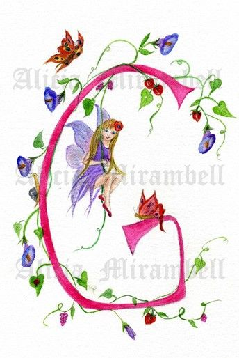 1312 best images about letters3 on pinterest illuminated for Fairy letters