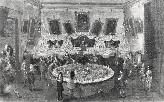A. Villani e Figli — Giuseppe Maria Mitelli (att.) Un rinfresco in Palazzo Marsigli. Bologna - Coll. Maccaferri — insieme