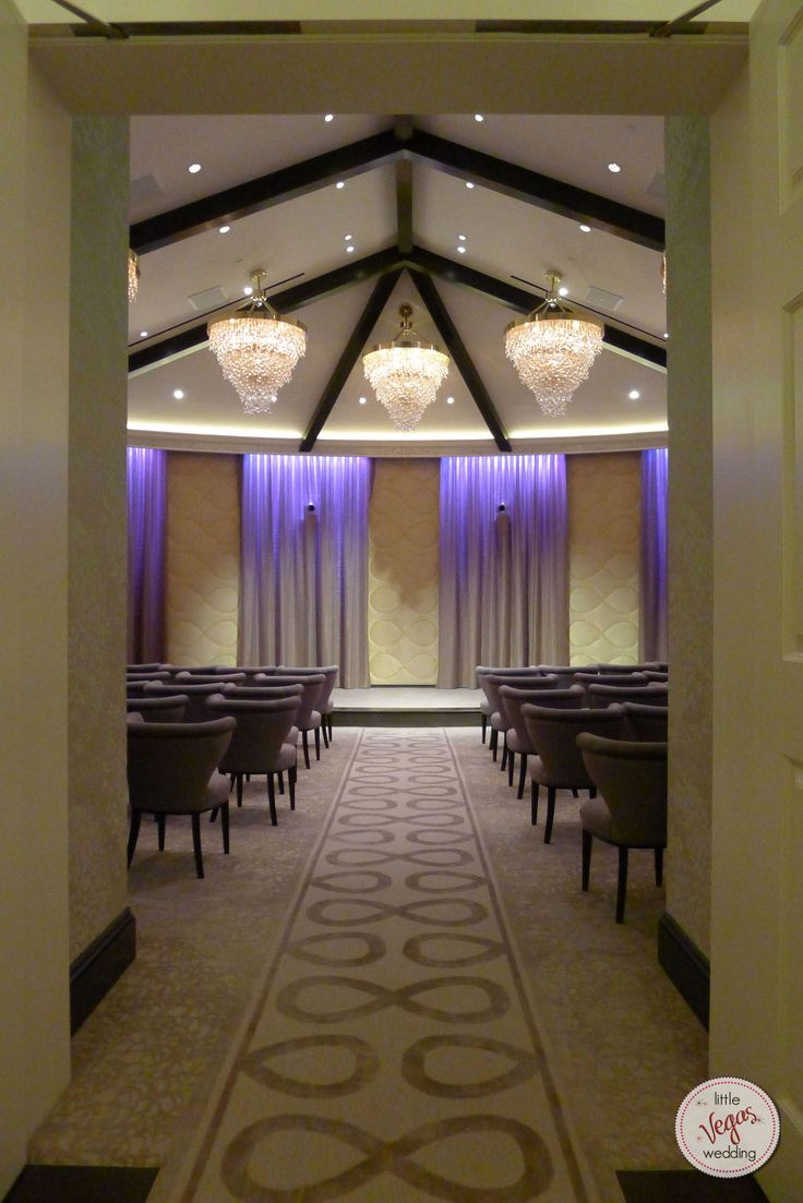 Entering the Chapel at Aria Las Vegas. #ARIAWeddings
