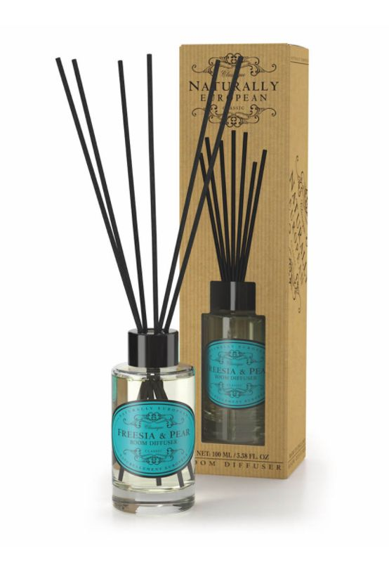Wonderfully Fragranced Diffusers - Freesia & Pear - A seriously great quality diffuser which subtly but definitely fragrances your room. The use of essential oils ensures a clean and natural fragrance.  A divine combination of the sweet, juicy aroma of pear with the delicate floral fragrance of freesias.   100ml