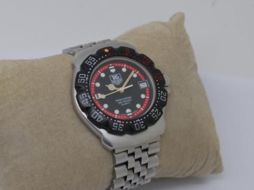 Vintage tag #heuer #formula 1 f1 midsize black dial #professional watch # g,  View more on the LINK: 	http://www.zeppy.io/product/gb/2/291810852703/