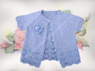 Hand knitted baby vest-baby knitting