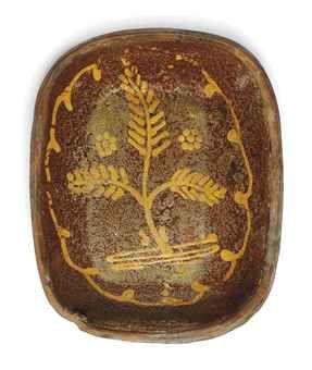 18th century slipware dish