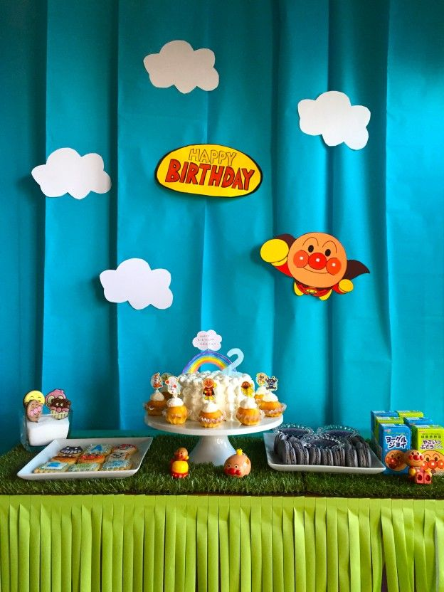 anpanman themed birthday party