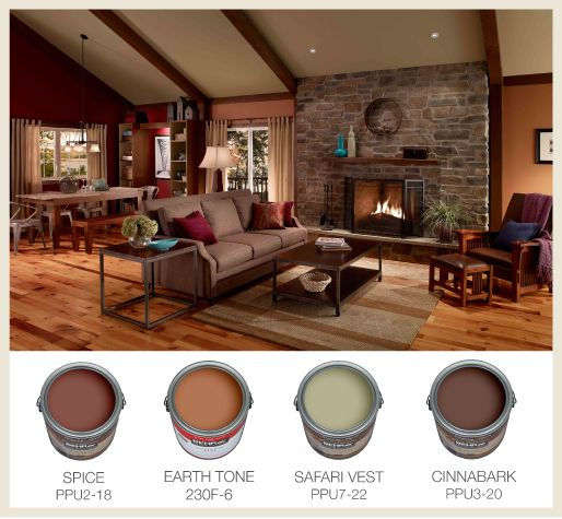 Color for Open Floor Plans. Not sure where, but LOVE this color combination.