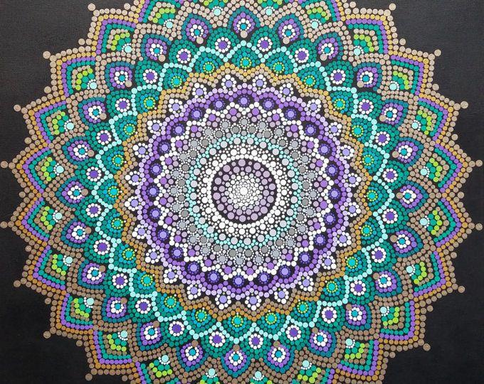 Arte de pared de Mandala mandala pintura/Bohemia/dot trabajo /