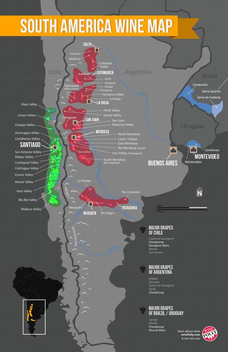 South America Wine Region Map | Wine Folly