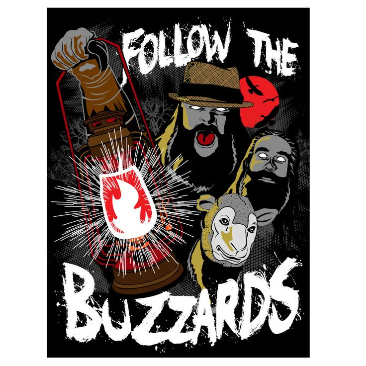 Follow The Buzzards with this Wyatt Family Glow-In-The-Dark Poster