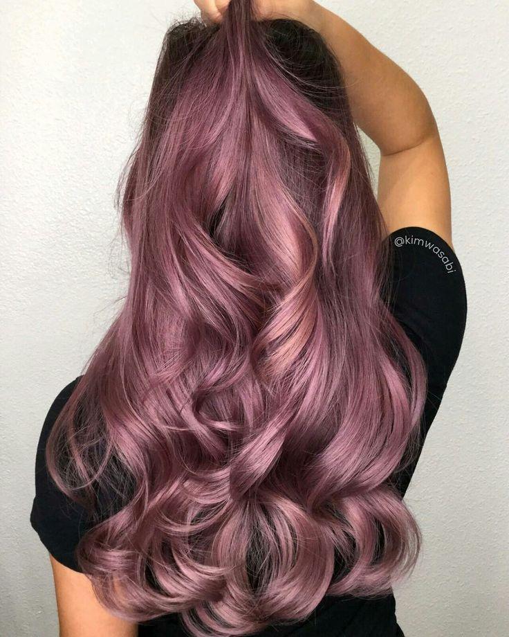 We Love This Deep Pink Balayage Pinkhair Pinkba In 2020 Rose Hair Color Spring Hair Color Rose Hair