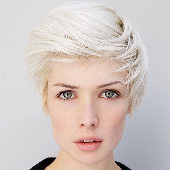 blonde, short hair, white blonde | Shades | Pinterest