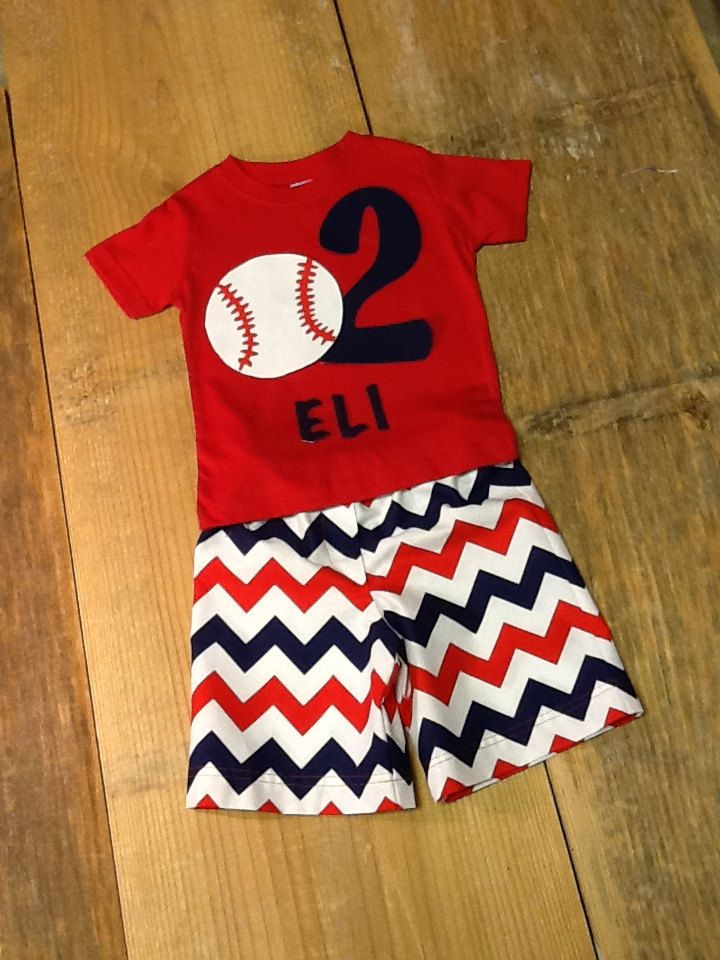 Boys Baseball Outfit. Shirt & Shorts, Cropped Pants, or Pants Set. Any Name, Number, and Colors for your Favorite Team. By EverythingSorella by EverythingSorella on Etsy