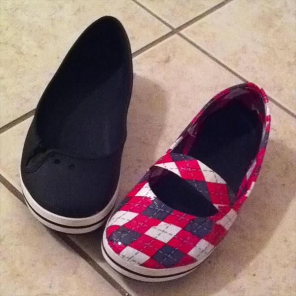 4 Easy DIY Duct Tape Shoes Ideas | 101 Duct Tape Crafts Please follow us @ http://www.pinterest.com/ducktapesale/