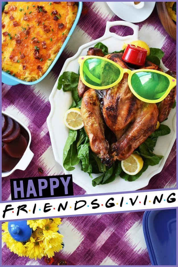 Seriously delicious sounding thanksgiving menu and a fabulous theme. Everyone needs a friendsgiving!