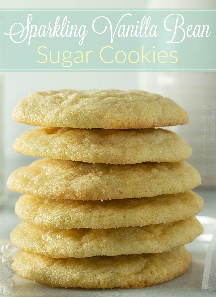Soft Vanilla Bean Sugar Cookies | These vanilla bean sugar ...