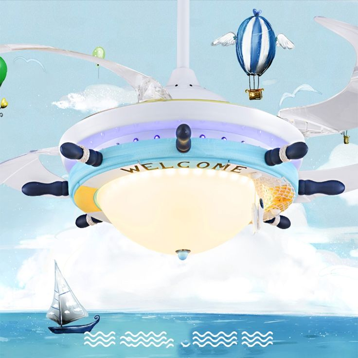 493.00$  Watch here - http://ali4jh.worldwells.pw/go.php?t=32708279560 - Cartoon Led Ceiling Fans Mediterranean 110V-220V Led pendant lights modern lighting fixture kids room ceiling pendant lamp
