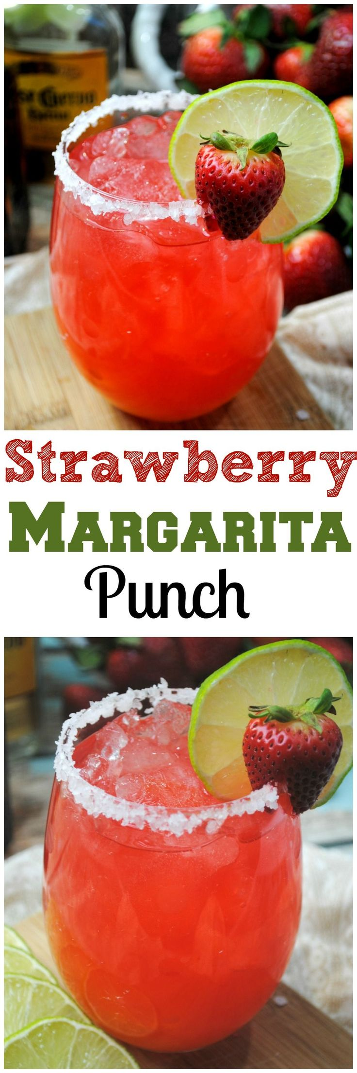 Fizzy Strawberry Margarita PUNCH!