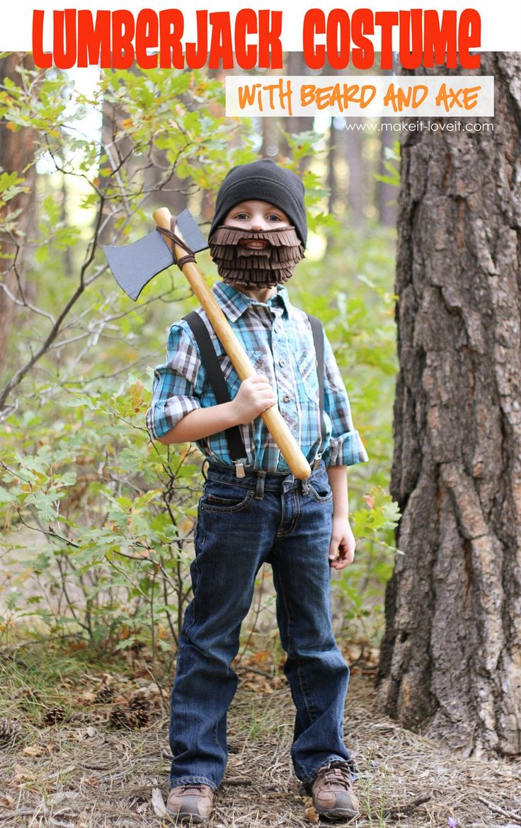 Halloween Costume Ideas: Lumberjack with Beard and Axe | Make It and Love It