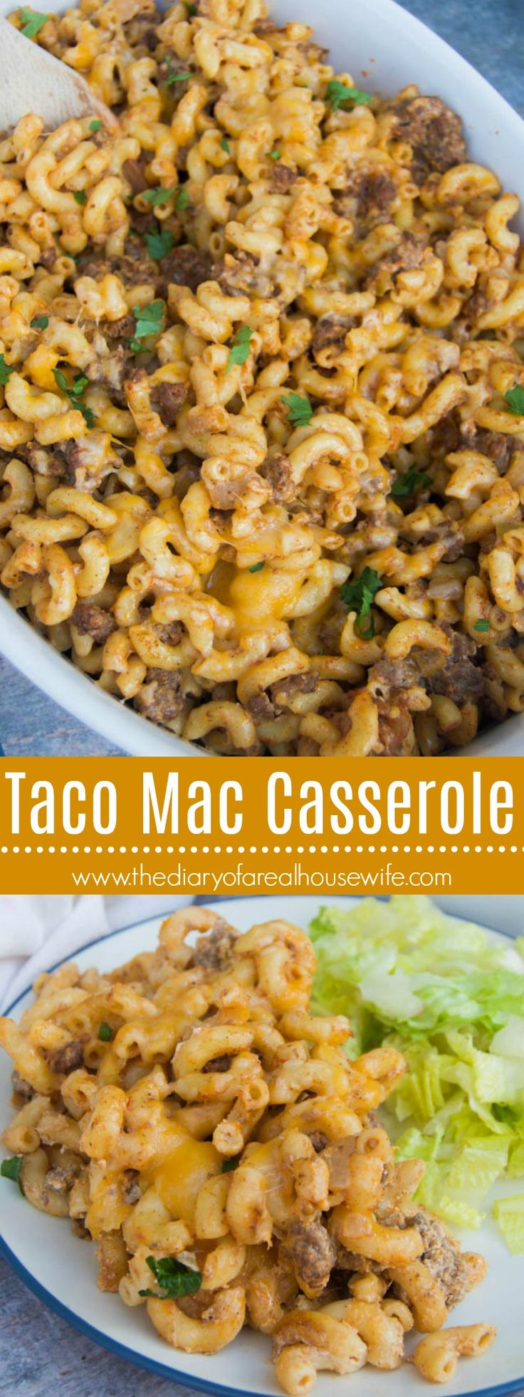 Taco Mac Casserole. Simple and easy recipe for the family. Make this one for dinner soon.
