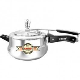United Induction Magic Silver Pressure Cooker 5 Ltr UPC00016 DETAILS Blending contemporary styling , the United Magic Silver Induction Pressure Cooker, adds to the aesthetics of your kitchen with loads of features that include induction bottom for even distribution of heat.