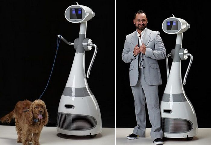 Let your robot take your dog for a walk.http://www.psfk.com/2014/12/personal-robot-is-open-source-human-sized-for-just-999.html